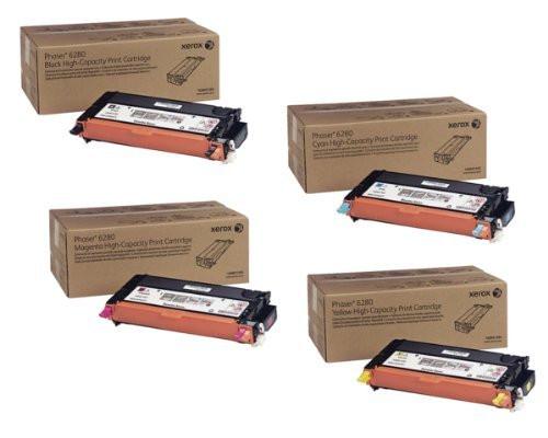 Phaser 6280HY   106R01392 106R01393 106R01394 106R01395   Original Xerox High-Yield Toner Cartridge Set – Black, Color