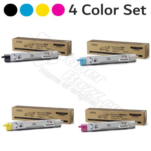 Original Xerox Phaser 6300/6350 Black Cyan Magenta Yellow Toner Cartridge 4 Pack 106R01073 106R01074 106R01075 106R01076