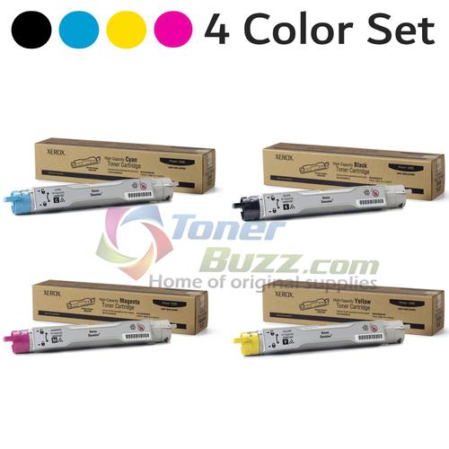 Original Xerox Phaser 6300 Black Cyan Magenta Yellow High-Capacity Toner Cartridge 4-Pack 106R01082 106R01083 106R01084 106R01085
