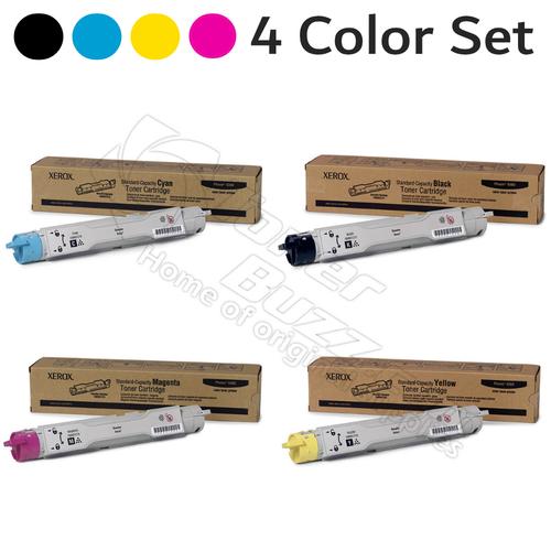 Original Xerox Phaser 6360 Black Cyan Magenta Yellow Toner Cartridge 4-Pack 106R01214 106R01215 106R01216 106R01217