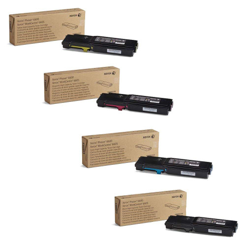Phaser 6600HC   106R02225 106R02226 106R02227 106R02228   Original Xerox High-Yield Toner Cartridge Set – Black, Color