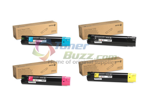 Original Xerox Phaser 6700 Black Cyan Magenta Yellow Toner Cartridge 4-Pack 106R01503 106R01504 106R01505 106R01506