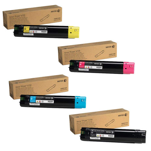 Phaser 6700HC | 106R01507 106R01508 106R01509 106R01510 | Original Xerox High-Yield Toner Cartridge Set – Black, Color