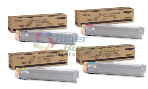 Original Xerox Phaser 7400 Black Cyan Magenta Yellow Toner Cartridge 4-Pack 106R01080 106R01150 106R01151 106R01152