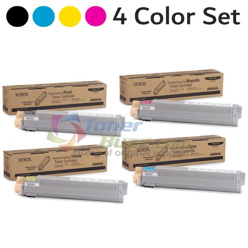 Original Xerox Phaser 7400 Black Cyan Magenta Yellow Toner Cartridge 4-Pack 106R01080 106R01150 106R01151 106R01152