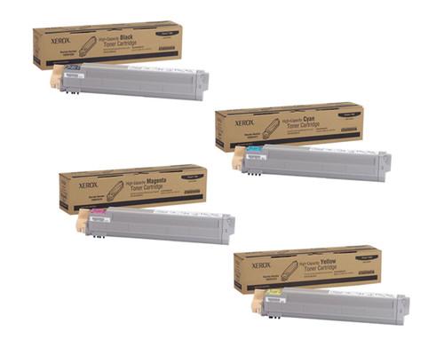 Phaser 7400HC | 106R01077 106R01078 106R01079 106R01080 | Original Xerox High-Yield Toner Cartridge Set – Black, Color