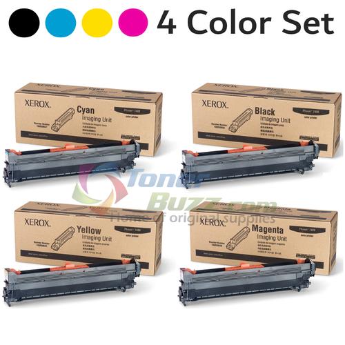 Original Xerox Phaser 7400 Black Cyan Magenta Yellow Imaging Unit 4-Pack 108R00647 108R00648 108R00649 108R00650
