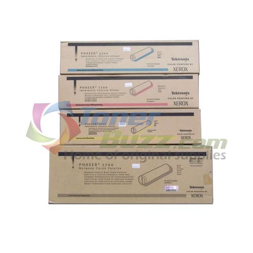Original Xerox Phaser 7700 Black Cyan Magenta Yellow Toner Cartridge 4-Pack 016-1879-00 016-1880-00 016-1881-00 016-1882-00