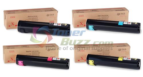 Original Xerox Phaser 7750 Black Cyan Magenta Yellow Toner Cartridge 4-Pack 106R00652 106R00653 106R00654 106R00655