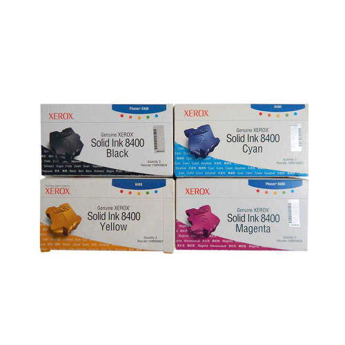 Phaser 8400 | 108R00604 108R00605 108R00606 108R00607 | Original Xerox Ink Cartridge Set – Black, Color