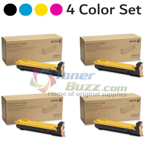 Original Xerox WorkCentre 6400 Black Cyan Magenta Yellow Drum Cartridge 4-Pack 108R00774 108R00775 108R00776 108R00777
