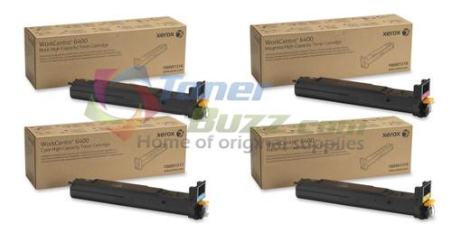 Original Xerox WorkCentre 6400 106R01316 106R01317 106R01318 106R01319 High Capacity Toner Cartridge Set