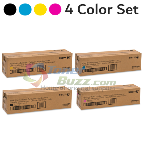 Original Xerox WorkCentre 7120 Black Cyan Magenta Yellow Drum Cartridge 4-Pack 013R00657 013R00658 013R00659 013R00660