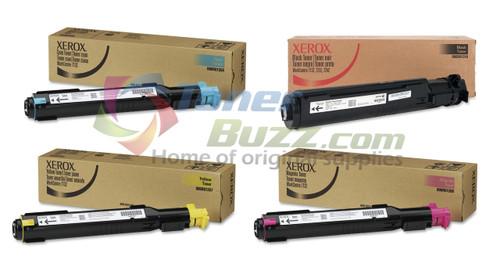 Original Xerox WorkCentre 7132 Black Cyan Magenta Yellow Toner Cartridge 4-Pack 006R01267 006R01268 006R01269 006R01318