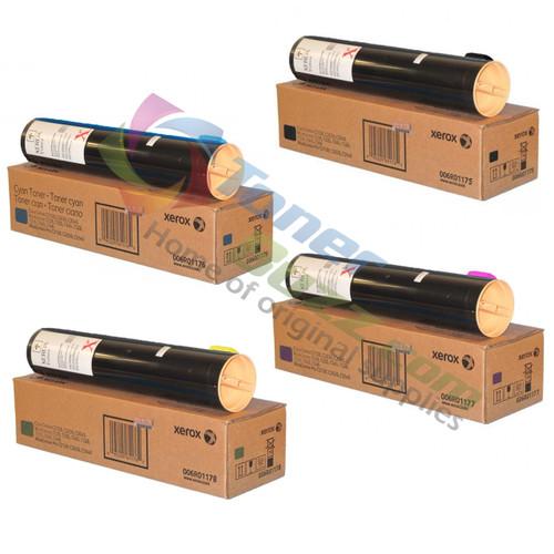 Original Xerox WorkCentre C2421 3545 Set Black Cyan Magenta Yellow Toner Cartridge 4-Pack 006R01175 006R01176 006R01177 006R01178
