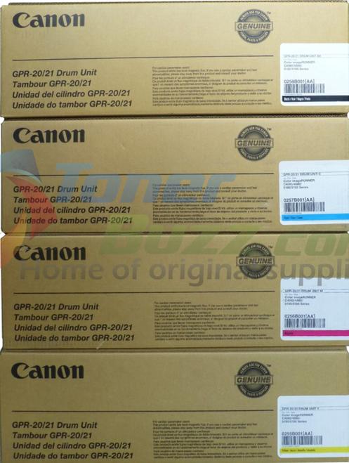 GPR-20 Drum   0255B001AA 0256B001AA 0257B001AA 0258B001AA   Original Canon Drum Unit Set - Black, Cyan, Magenta, Yellow