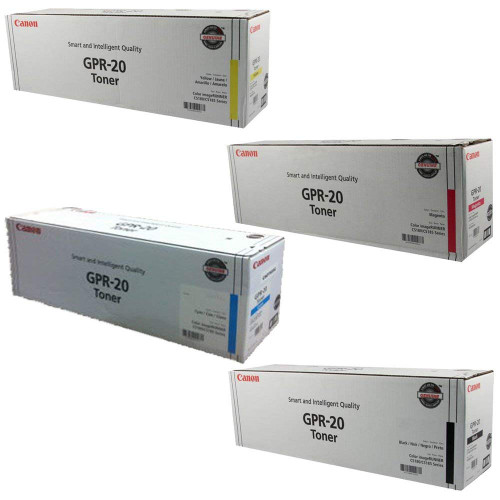 Original Canon GPR-20 Black Cyan Magenta Yellow Laser Toner Cartridge Set 1066B001AA 1067B001AA 1068B001AA 1069B001AA
