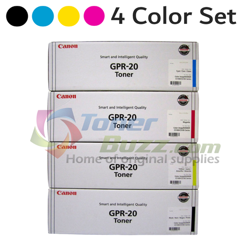 Original Canon GPR-20 Black Cyan Magenta Yellow Laser Toner Cartridge Set 1066B001AA 1067B001AA 1068B001AA 1069B001AA