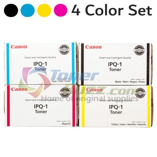 Canon IPQ-1 CYMK Set | 0397B003AA 0398B003AA 0399B003AA 0400B003AA | Original Canon Toner Cartridge Set - Black, Cyan, Magenta, Yellow