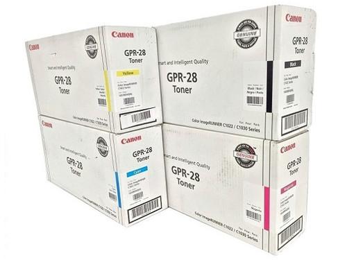 Canon GPR-28 CYMK Set | 657B004AA 1658B004AA 1659B004AA 1660B004AA | Original Canon Laser Toner Cartridge Set - Black, Cyan, Magenta, Yellow
