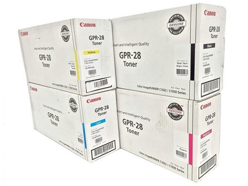 Canon GPR-28 CYMK Set | 657B004AA 1658B004AA 1659B004AA 1660B004AA | Original Canon Laser Toner Cartridge Set - Black, Cyan, Magenta, Yellow