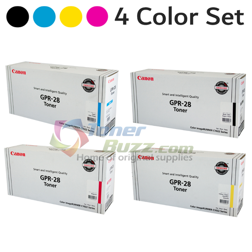 Original Canon GPR-28 Black Cyan Magenta Yellow Laser Toner Cartridge Set 1657B004AA 1658B004AA 1659B004AA 1660B004AA