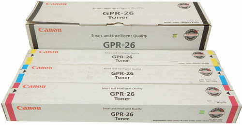 Canon GPR-26 CYMK Set | 2447B003AA 2448B003AA 2449B003AA 2450B003AA | Original Canon Toner Cartridge Set - Black, Cyan, Magenta, Yellow