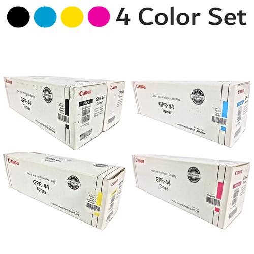 Original Canon GPR-44 2-Black Cyan Magenta Yellow Toner Cartridge Set