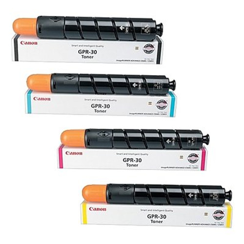 OEM Canon GPR-30 Set Black Cyan Magenta Yellow 2789B003AA 2793B003AA 2797B003AA 2801B003AA Toner Cartridge
