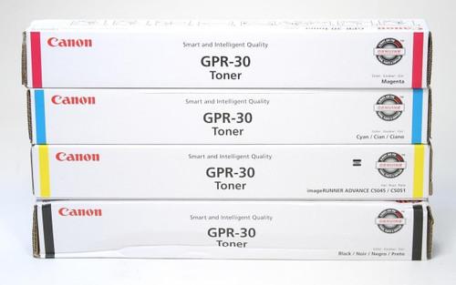OEM Canon GPR-30 Black Cyan Magenta Yellow 2789B003AA 2793B003AA 2797B003AA 2801B003AA