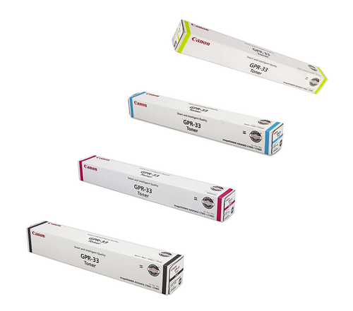 Original Canon GPR-33 Set Black Cyan Magenta Yellow Toner Cartridge 2792B003AA 2796B003AA 2800B003AA 2804B003AA
