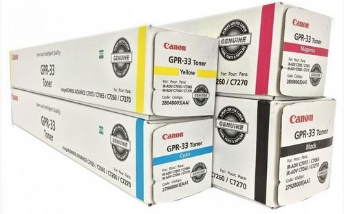 Canon GPR-33 CYMK Set | 2792B003AA 2796B003AA 2800B003AA 2804B003AA | Original Canon Toner Cartridge - Black, Cyan, Magenta, Yellow