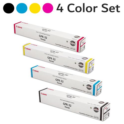 Canon GPR-32 CYMK Set   2791B003AA 2795B003AA 2799B003AA 2803B003AA   Original Canon Toner Cartridge Set - Black, Cyan, Magenta, Yellow