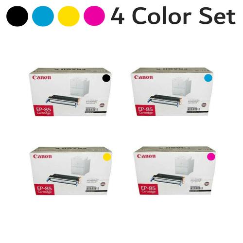Original Canon EP-85 Black Cyan Magenta Yellow Laser Toner Cartridge Set 6822A004AA 6823A004AA 6824A004AA 6825A004AA
