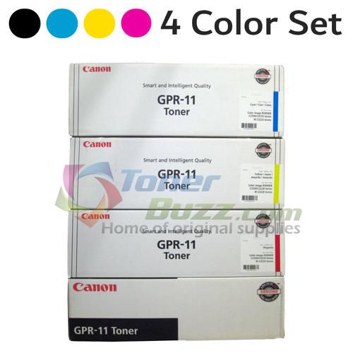 Original Canon GPR-11 Black Cyan Magenta Yellow Laser Toner Cartridge Set 7626A001AA 7627A001AA 7628A001AA 7629A001AA