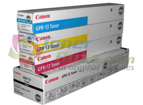 Original Canon GPR-13 Black Cyan Magenta Yellow Laser Toner Cartridge Set 8640A003AA 8641A003AA 8642A003AA 8643A003AA