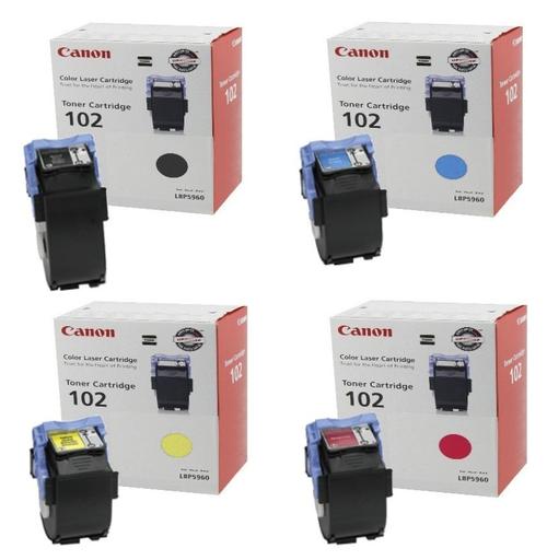 Canon CRG-102 Toner Set | 9642A006AA 9643A006AA 9644A006AA 9645A006AA | Original Canon Toner Cartridge Set – Black, Cyan, Magenta, Yellow