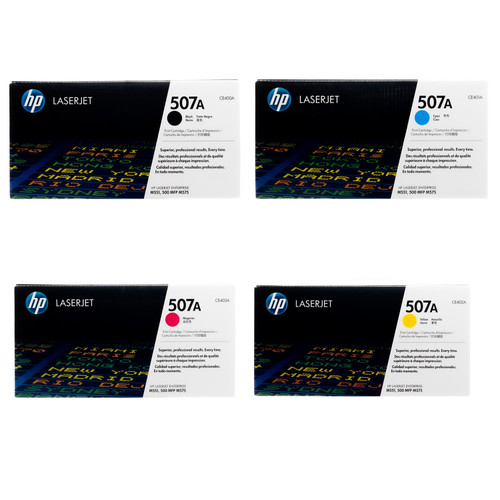 HP 507A SET | CE400A CE401A CE402A CE403A | Original HP Toner Cartridge - Black, Cyan, Yellow, Magenta