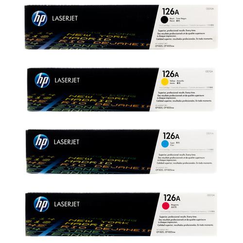 Original HP 126A Set CE310A CE311A CE312A CE313A Black Cyan Magenta Yellow Toner Cartridges
