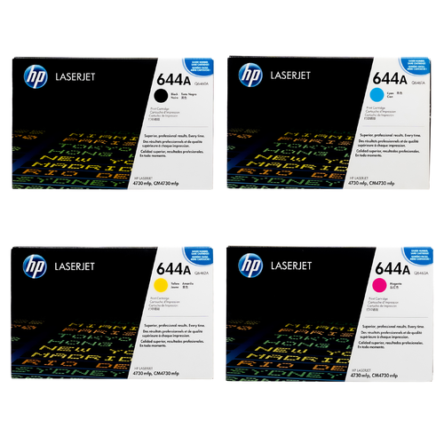 HP 644A SET   Q6460A Q6461A Q6462A Q6463A  Original HP Toner Cartridge - Black, Cyan, Yellow, Magenta