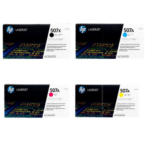 Original HP 507X 507A Set CE400X CE401A CE402A CE403A Black Cyan Magenta Yellow Toner Cartridges