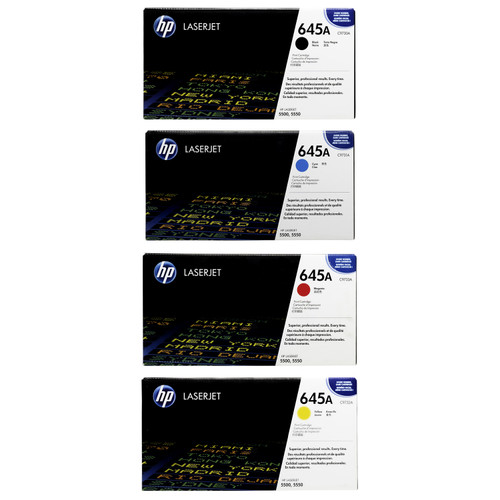 Original HP 645A Set C9730A C9731A C9732A C9733A Toner Cartridges Black Cyan Magenta Yellow