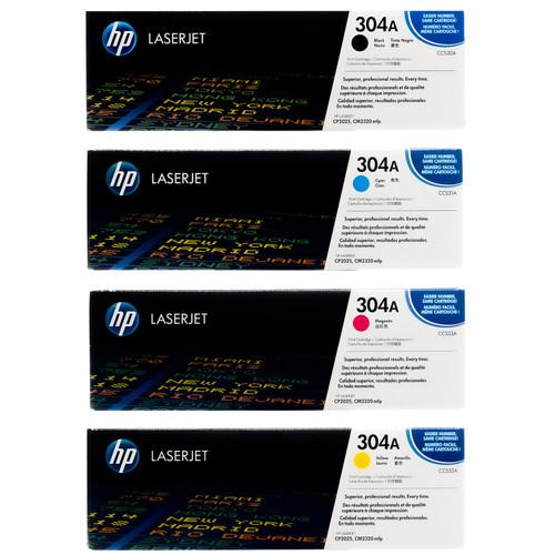 HP 304A SET | CC530A CC531A CC532A CC533A | Original HP Toner Cartridge - Black, Cyan, Yellow, Magenta