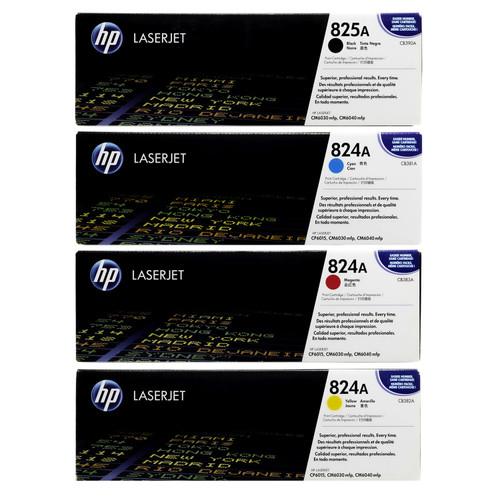 HP 825A 824A SET   CB390A CB381A CB382A CB383A   Original HP Toner Cartridge - Black, Cyan, Yellow, Magenta