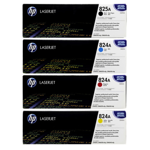 HP 825A 824A SET | CB390A CB381A CB382A CB383A | Original HP Toner Cartridge - Black, Cyan, Yellow, Magenta
