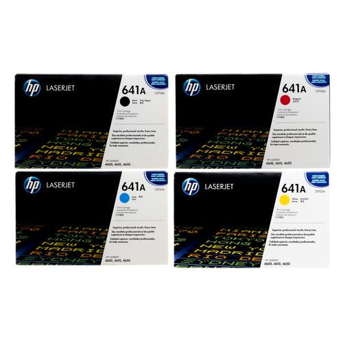 HP 641A SET   C9720A C9721A C9722A C9723A   Original HP Toner Cartridge - Black, Cyan, Yellow, Magenta