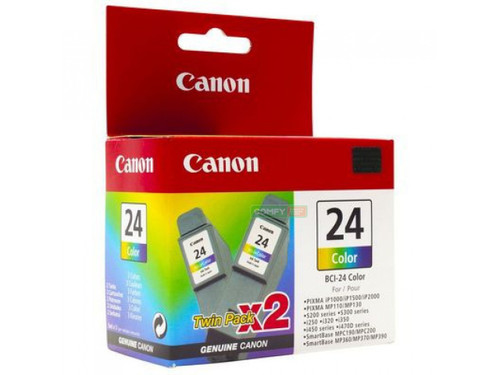 Original Canon Twin Pack BCI-24 Color Ink Tank 6882A010AB