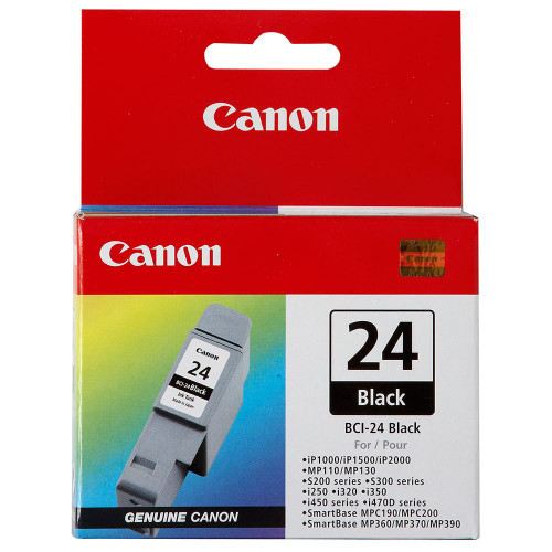 Original Canon BCI-24 Black Twin Pack and Color  Twin Pack Ink Tank Cartridges