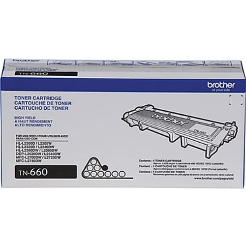 Original Brother TN-660 Black High Yield Toner Cartridge