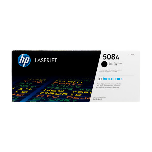 Original HP 508A Black CF360A LaserJet Toner Cartridge
